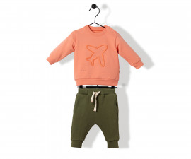 Bebetto Airlplane Cotton Baby 2 Pcs Set (Sweatshirt+Pants) - K3163