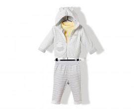 Bebetto Always Together Quilted Baby 3 Pcs Set (Cardigan+Sweatshirt+Pants) - K3220