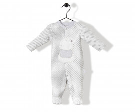 Bebetto Always Together Quilted Baby Romper W/Feet - K3221