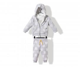 Bebetto Bears Baby 3 Pcs Set (Cardigan W/Hood+Sweatshirt+Pants) - K3174