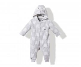 Bebetto Bears Baby Romper W/Hood W/O Feet - K3176