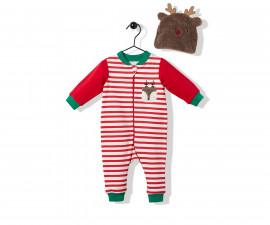 Bebetto Christmas Party Cotton Baby Romper - K3254