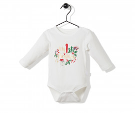 Bebetto Christmas Party Cotton Baby Long Sleeved Bodysuit - T2523