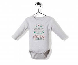Bebetto Christmas Party Cotton Baby Long Sleeved Bodysuit - T2524