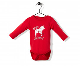 Bebetto Christmas Party Cotton Baby Long Sleeved Bodysuit - T2525