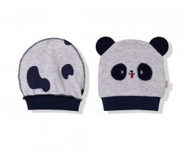 Bebetto Confused Panda Cotton Baby Cap 2Pcs - C749