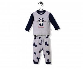 Bebetto Confused Panda Cotton Baby Pajamas Set - 2 Pcs - F1140