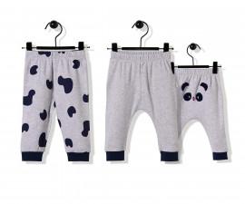 Bebetto Confused Panda Cotton Baby Pants W/Feet 2 Pcs - T2504