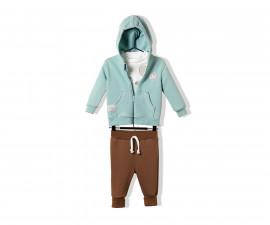 Bebetto Cool Friends Cotton Baby 3 Pcs Set (Cardigan+Sweatshirt+Pants) - K2799