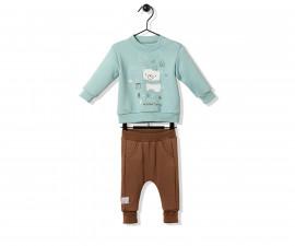 Bebetto Cool Friends Cotton Baby 2 Pcs Set (Sweatshirt+Pants) - K2800