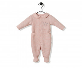 Bebetto Cute Face Quilted Baby Romper W/Feet - K2836