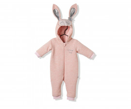 Bebetto Cute Face Quilted Baby Romper W/Hood W/O Feet - K2839