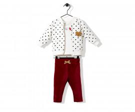 Bebetto Dance Love Velveteen Baby 3 Pcs Set (Cardigan+Sweatshirt+Pants) - K2702