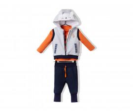 Bebetto Funny Fox Baby 3 Pcs Set (Vest+Sweatshirt+Pants) - K2714