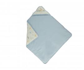 Bebetto Funny Safari Cotton Hooded Baby Padded Blanket - B704b