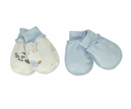 Bebetto Funny Safari Cotton Baby Mittens 2 Pcs - C746b