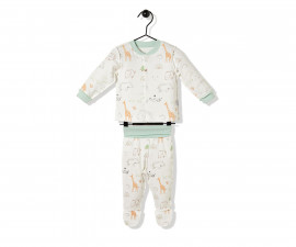 Bebetto Funny Safari Cotton Baby Mini Pajamas Set - 2 Pcs - F1138