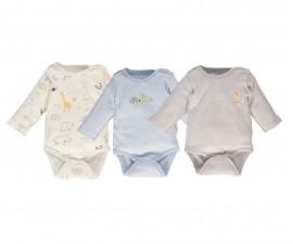 Bebetto Funny Safari Cotton Baby Bodysuit - Long Sleeved - T2493b