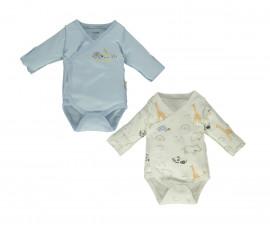Bebetto Funny Safari Cotton Baby Bodysuit 2 Pcs - Twilled - T2495b