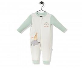 Bebetto Funny Safari Cotton Baby Romper W/O Feet - T2497
