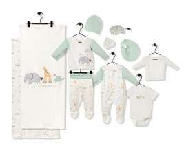 Bebetto Funny Safari Cotton Baby Newborn Set 10 Pcs - Z734