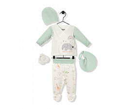 Bebetto Funny Safari Cotton Baby Newborn Set 10 Pcs - Z735