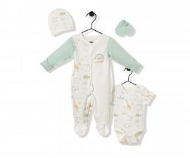 Bebetto Funny Safari Cotton Baby Romper 4 Pcs - Z736