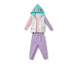 Bebetto Glitter Party Cotton Baby 3 Pcs Set (Cardigan+Sweatshirt+Pants) - K3238