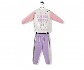 Bebetto Glitter Party Cotton Baby 2 Pcs Set (Sweatshirt+Pants) - K3239