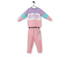 Bebetto Glitter Party Cotton Baby 2 Pcs Set (Sweatshirt+Pants) - K3240