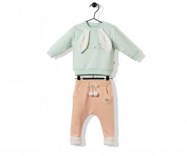 Bebetto Happy Cuties Cotton Baby 2 Pcs Set (Sweatshirt+Pants) - K3201