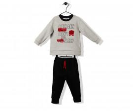 Bebetto Hero Boy Cotton Baby 2 Pcs Set (Sweatshirt+Pants) - K2874