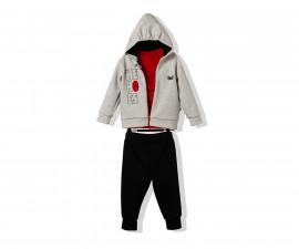 Bebetto Hero Boy Cotton Baby 3 Pcs Set (Cardigan W/Hood+Sweatshirt+Pants) - K2875
