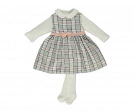 Bebetto Lovely Baby 3 Pcs Set ( Sweatshirt+Dress+Pant Hose) - K3187