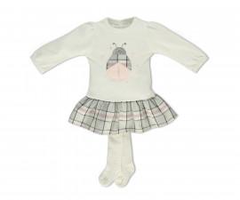 Bebetto Lovely Baby 2 Pcs Set (Dress+Pant Hose) - K3188