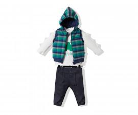 Bebetto Mommy's Dinosaur Weaving Baby 3 Pcs Set (Sweatshirt+Vest+Pant) - K3246