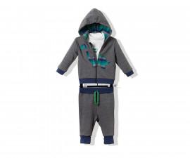 Bebetto Mommy's Dinosaur Cotton Baby 3 Pcs Set (Cardigan+Sweatshirt+Pants) - K3249