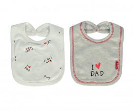 Bebetto Mum & Dad 21 Cotton Baby Bib 2 Pcs - C738