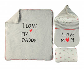 Bebetto Mum & Dad 21 Cotton Baby Padded Change Mat 3 Pcs - P433