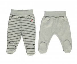 Bebetto Mum & Dad 21 Cotton Baby Pants W/Feet 2 Pcs - T2399