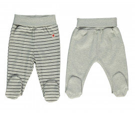Bebetto Mum & Dad 21 Cotton Baby Pants W/Feet 2 Pcs - T2439