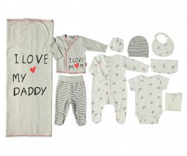 Bebetto Mum & Dad 21 Cotton Baby Newborn Set 10 Pcs - Z721