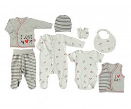 Bebetto Mum & Dad 21 Cotton Baby Newborn Set 8 Pcs - Z722