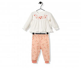 Bebetto Naturel Home Cotton Baby Pajamas Set - 2 Pcs - F1137