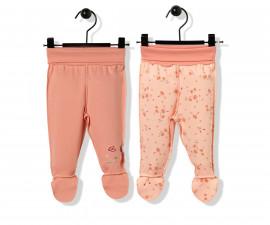 Bebetto Naturel Home Cotton Baby Pants W/Feet 2 Pcs - T2479
