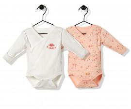 Bebetto Naturel Home Cotton Baby Bodysuit 2 Pcs - Twilled - T2484