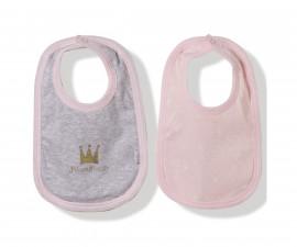 Bebetto Princess Penguin Cotton Baby Bib 2 Pcs - C751
