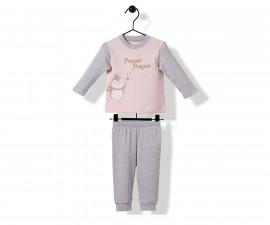 Bebetto Princess Penguin Cotton Baby Pajamas Set - 2 Pcs - F1147