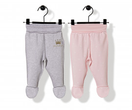Bebetto Princess Penguin Cotton Baby Pants W/Feet 2 Pcs - T2516