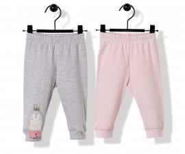 Bebetto Princess Penguin Cotton Baby Pants W/Feet 2 Pcs - T2517